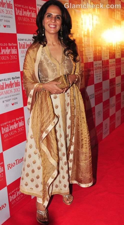 Anita Dongre Graceful at Retail Jeweller India Awards 2012