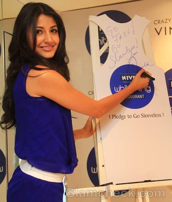 Anushka Sharma NIVEA Sleeveless Campaign