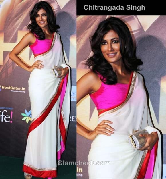 Chitrangada Singh bollywood style inspiration color-blocking pink-white