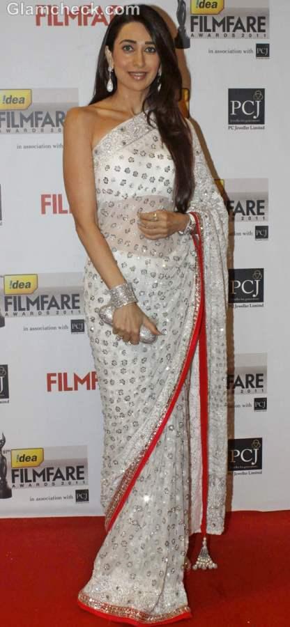 Karisma Kapoor saree
