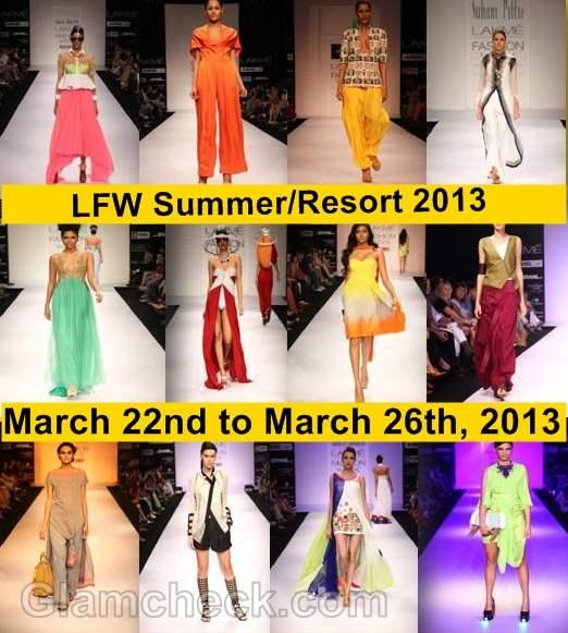 Lakme Fashion Week dates for Summer Resort 2013