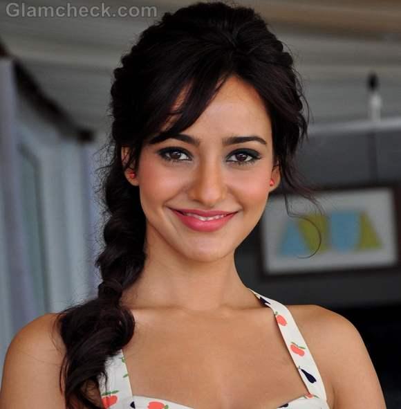 Neha Sharma hairstyle side braid