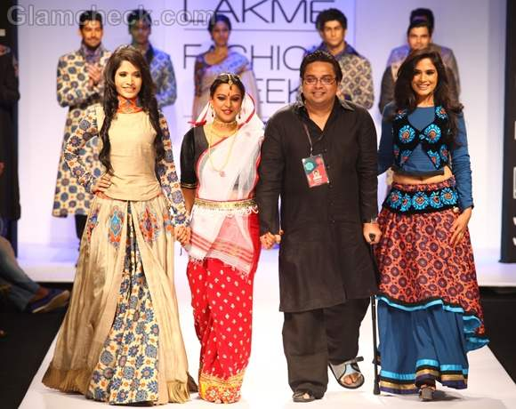 Richa Chadda for Debarun Mukherjee lakme fashion week 2012