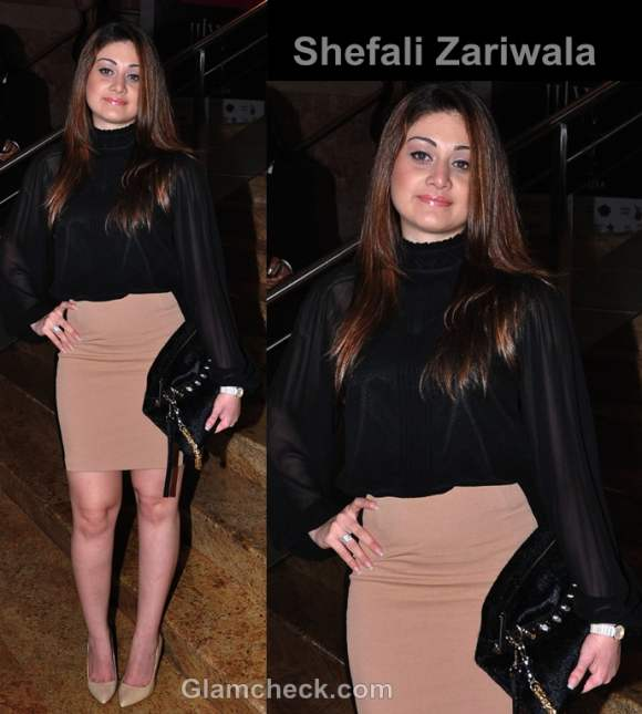 Shefali Zariwala style inspiration wearing beige black