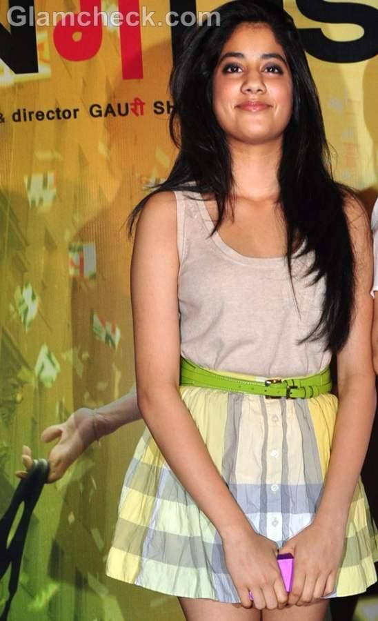 Sridevi S Daughter Jhanvi Flirty In Short Skirt