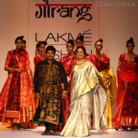 kiran kher for Gaurang LFW Winter Festive 2012
