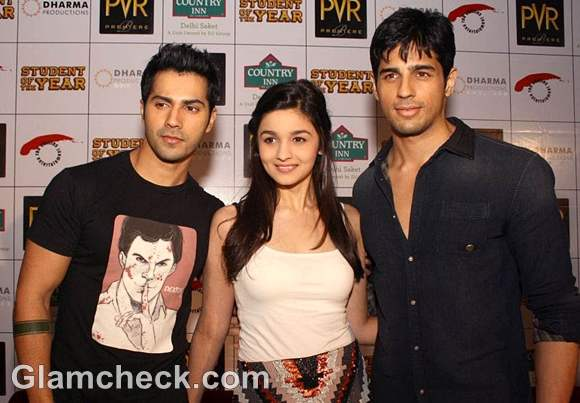 Alia Bhatt Student of The Year co-stars Varun Siddharth
