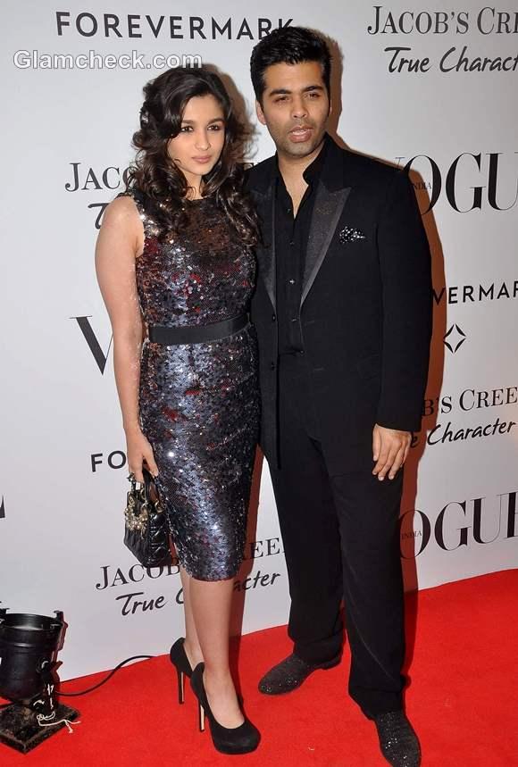 Aliya Bhatt Karan Johar Vogue 5th Anniversary Bash