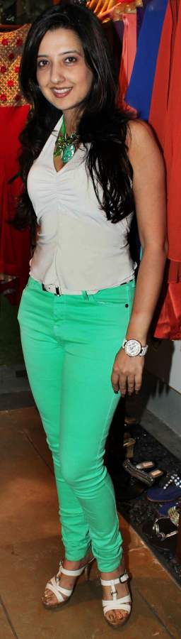 Amy Billimoria mint green colored denims 2013