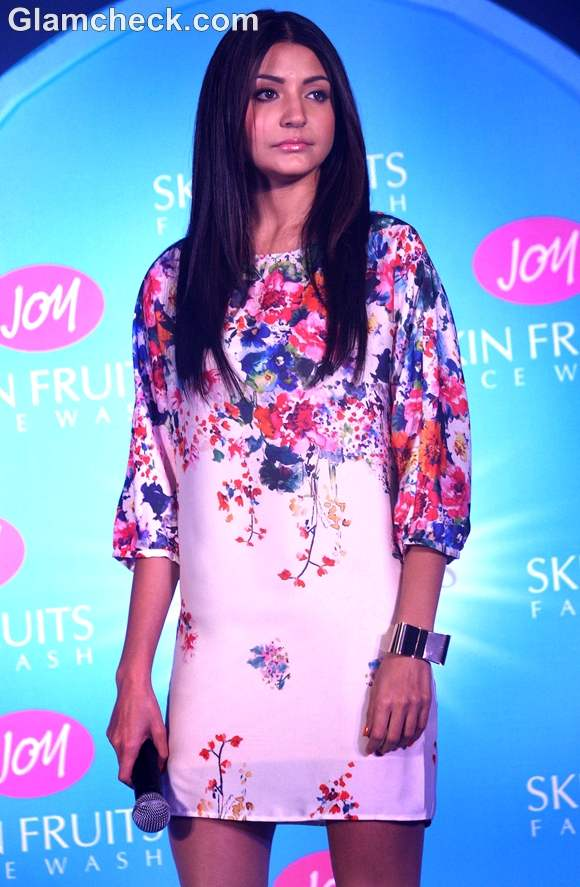 Anushka Sharma floral dress launch of joy cosmetics
