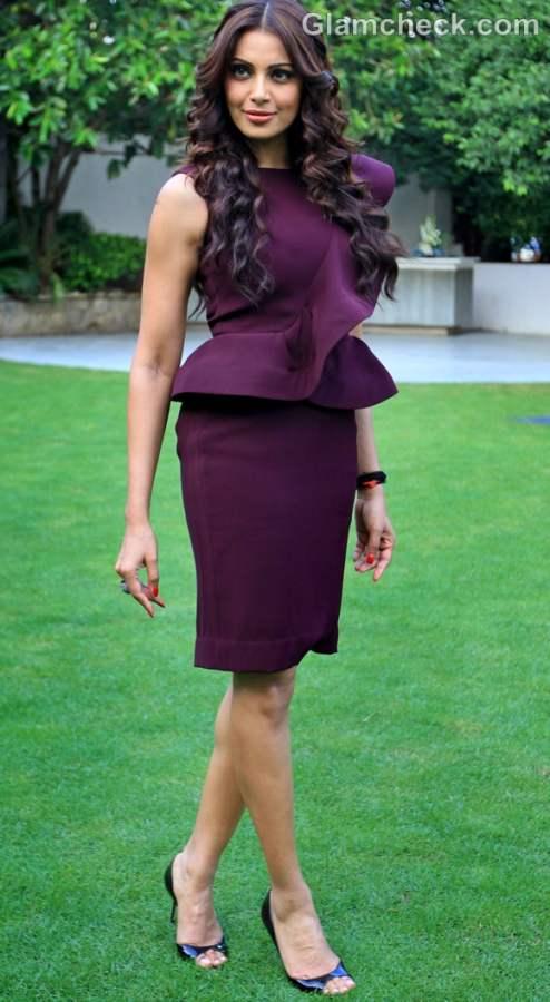 Bipasha Basu peplum dress