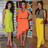 Bollywood Celebs sporting neon fashion trend