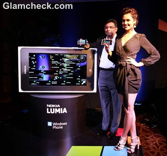 Esha Gupta at the Launch of Nokia Lumia Smartphones