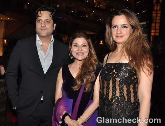 Fardeen Khan with Laila Furniturewala at singer Saapna Mukerjis party