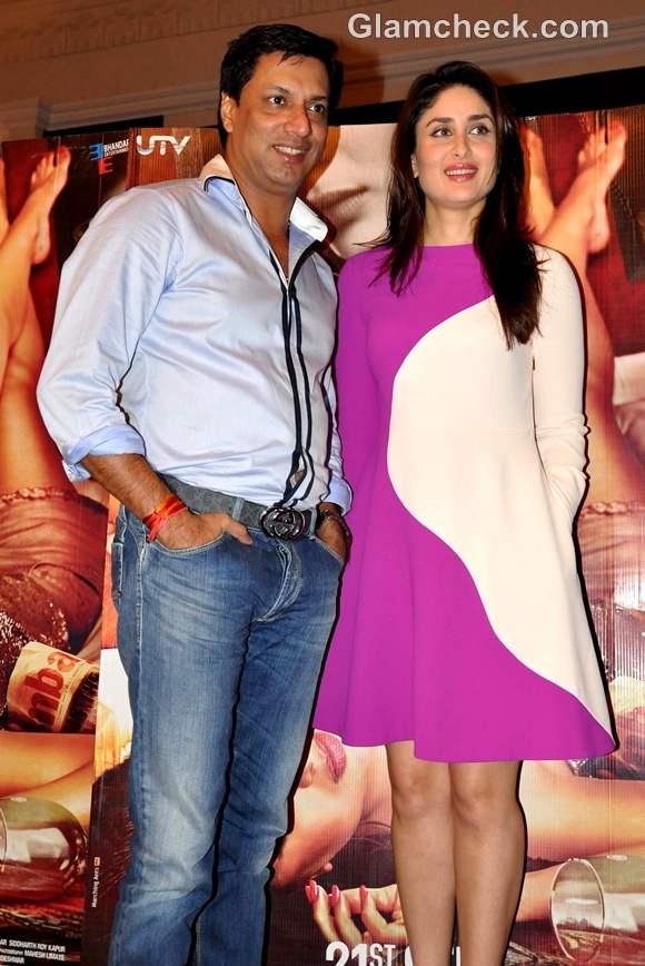 Kareena Kapoor pink white dress at Heroine promotion