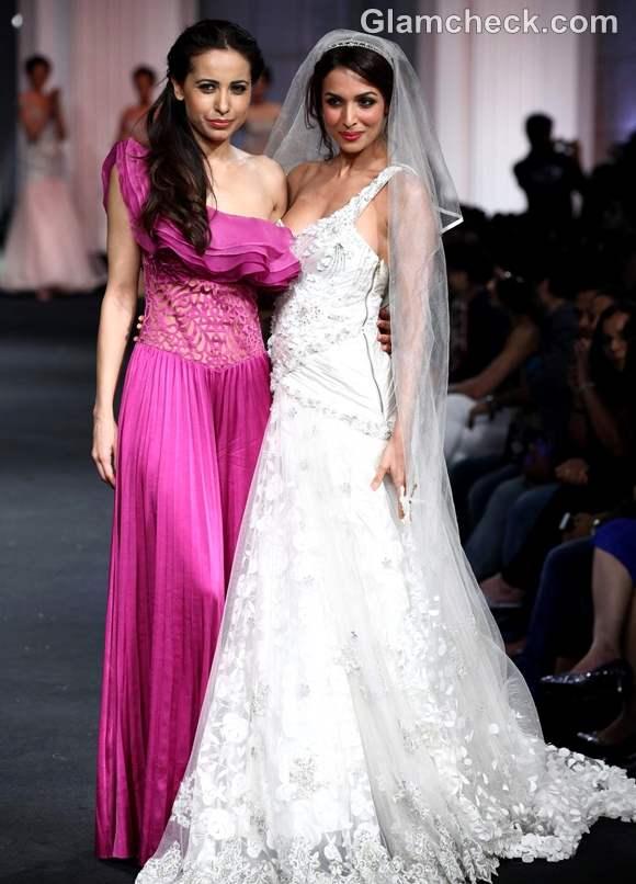 Malaika Arora mandira wirk Aamby Valley india bridal fashion week 2012