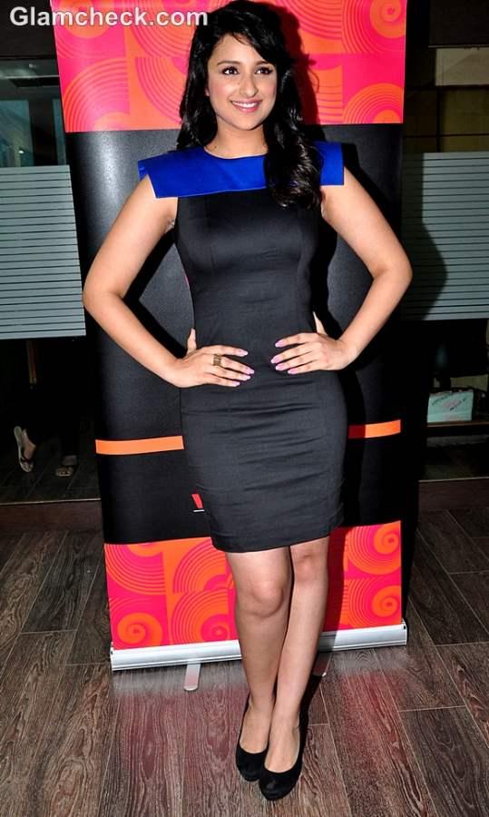 Parineeti Chopra black dress host gima 2012