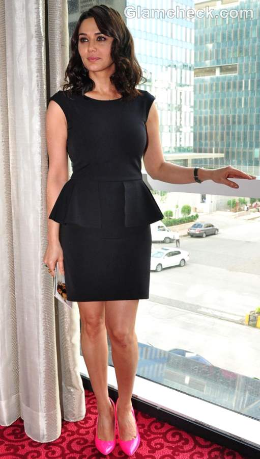 Preity Zinta Classy in Black Peplum