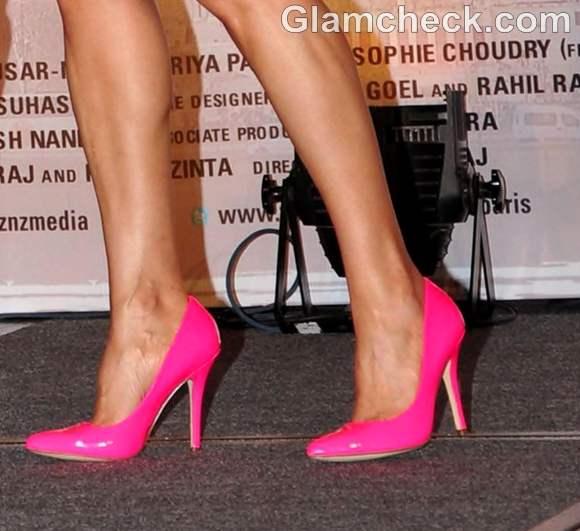 Preity Zinta pink heels
