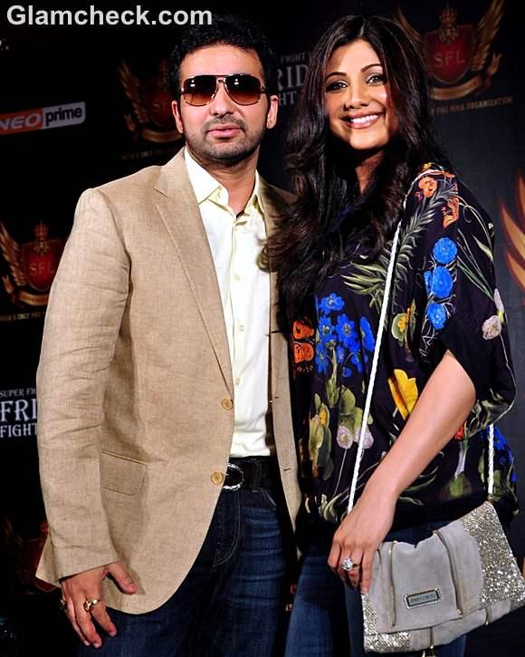 Raj Kundra Shilpa Shetty Super Fight League press conference