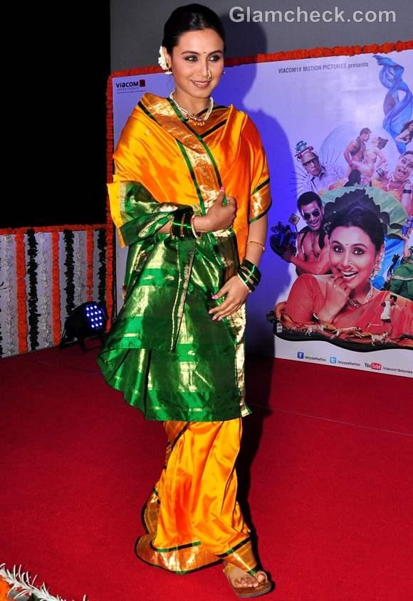 Rani Mukherjee Aiyyaa look saree
