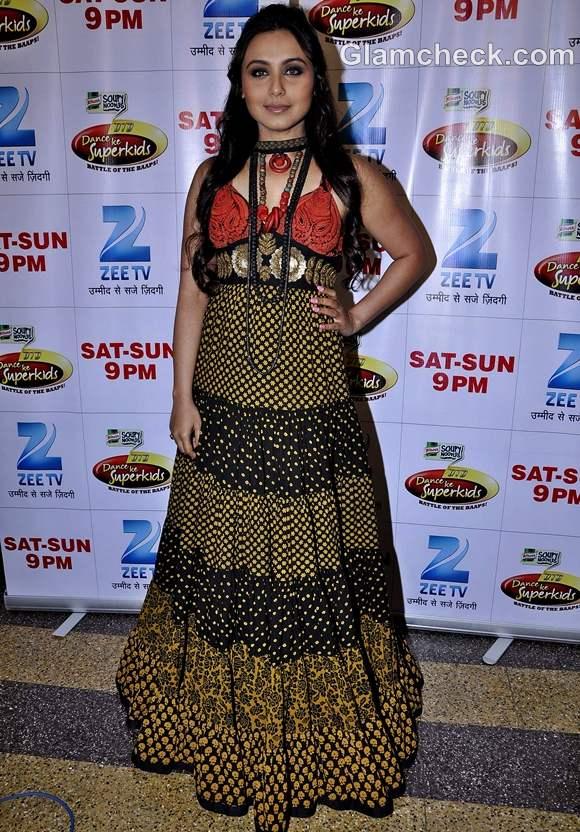 Rani Mukherji Sabyasachi dress Dance ke Superkids