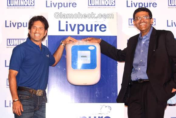 Sachin Tendulkar promoting Livepure RO water purifier