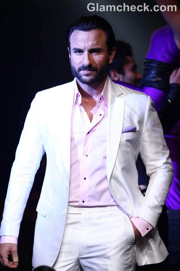 Saif ali khan walk the ramp for designer Narendra Kumar Ahmed India Bridal Week