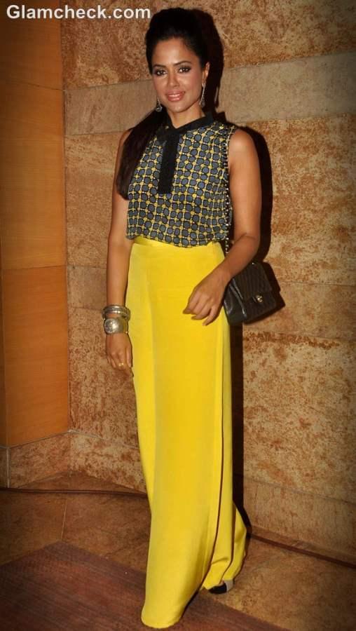 Sameera Reddy neon fashion trend