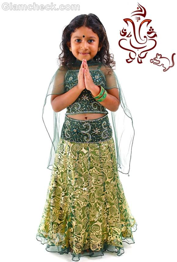 Traditional fashion for kids-indian festival ganesh chaturthi