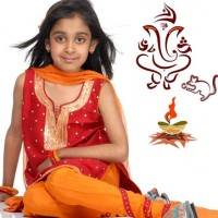Traditional fashion kids-indian festival ganesh chaturthi