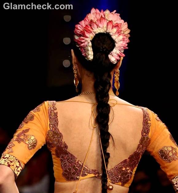 Traditional indian hairstyle gajra ganesh chaturthi