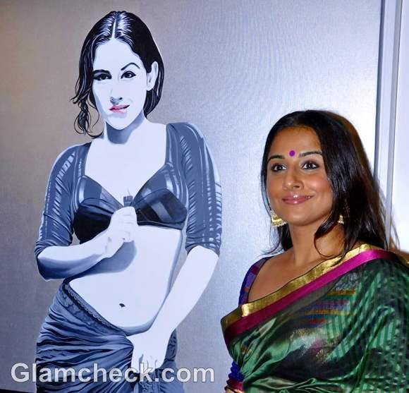 Vidya Balan andy pop exhibition