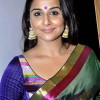 Vidya Balan green sari for andy pop exhibition