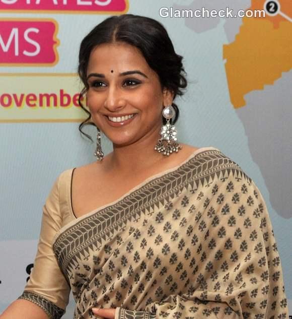 Vidya Balan traditional look makeup how to