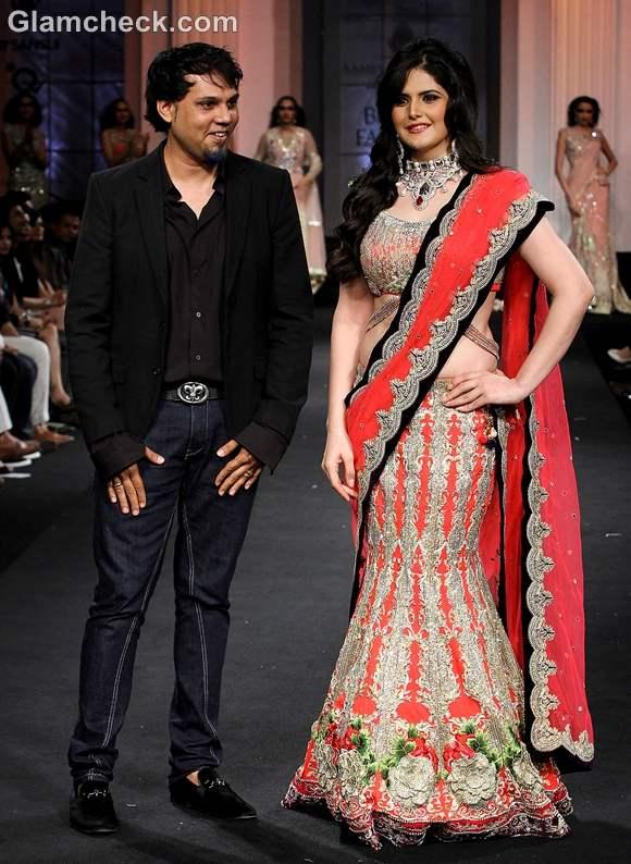 Zarine Khan Falguni and Shane Peacock India Bridal Fashion Week 2012