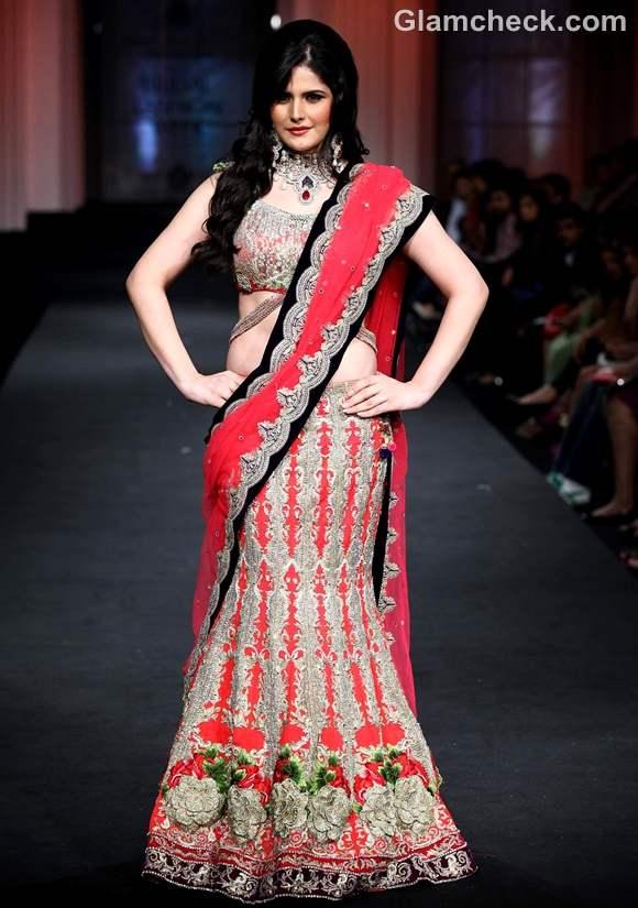Zarine Khan India Bridal Fashion Week 2012