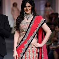 Zarine Khan at India Bridal Fashion Week 2012