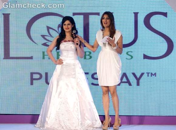 Zarine Khan attends the launch event of Pure Stay