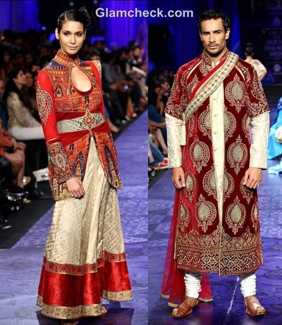 aamby valley india bridal fashion week 2012 JJ Valaya grand finale