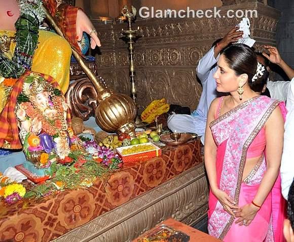 bollywood celeb kareena kapoor ganesh chaturthi 2012