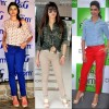 bollywood celebs colored denim trend 2012