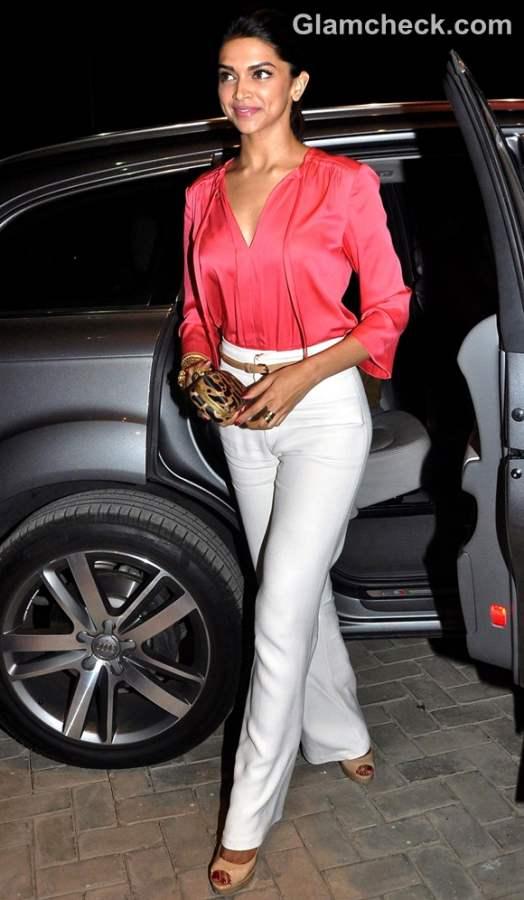 deepika padukone style inspiration wearing wide legged trousers
