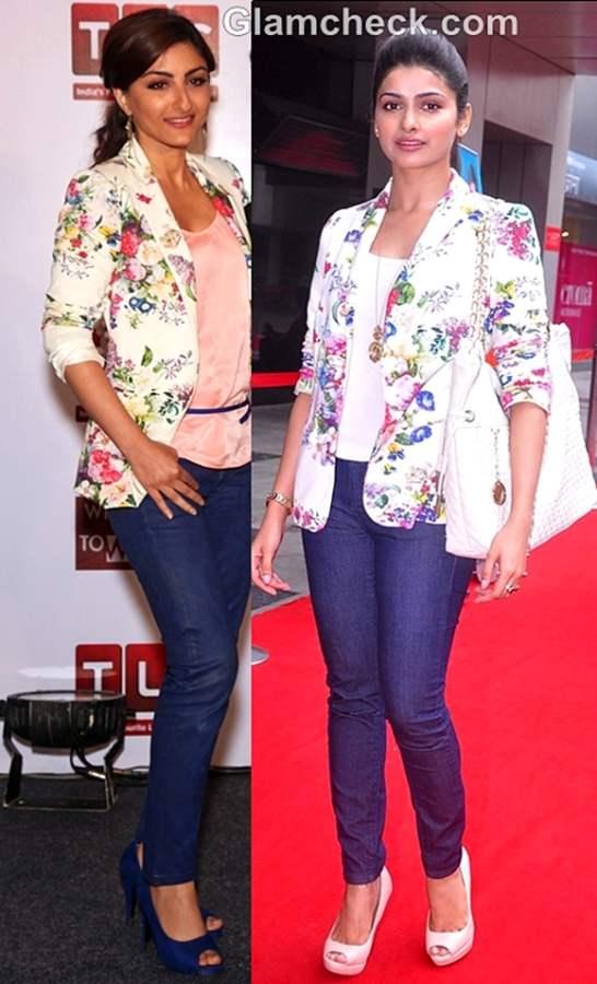 floral print blazer trend