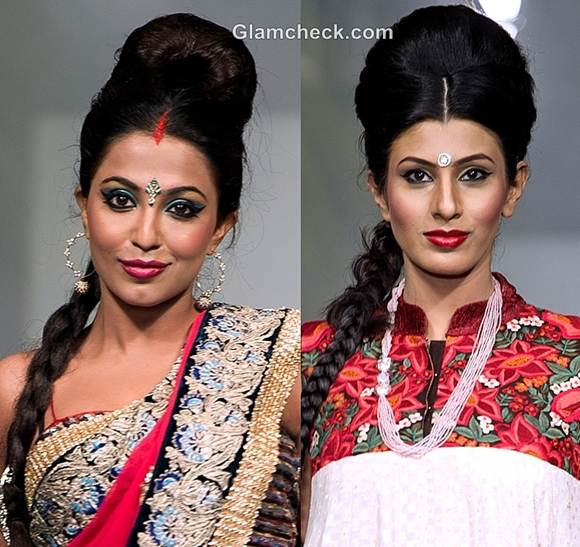 ganesh chaturthi traditional hairstyle makeup