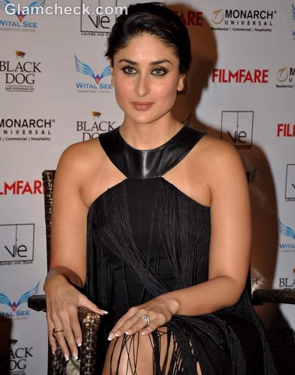 kareena kapoor at filmfare magazine launch in black dress