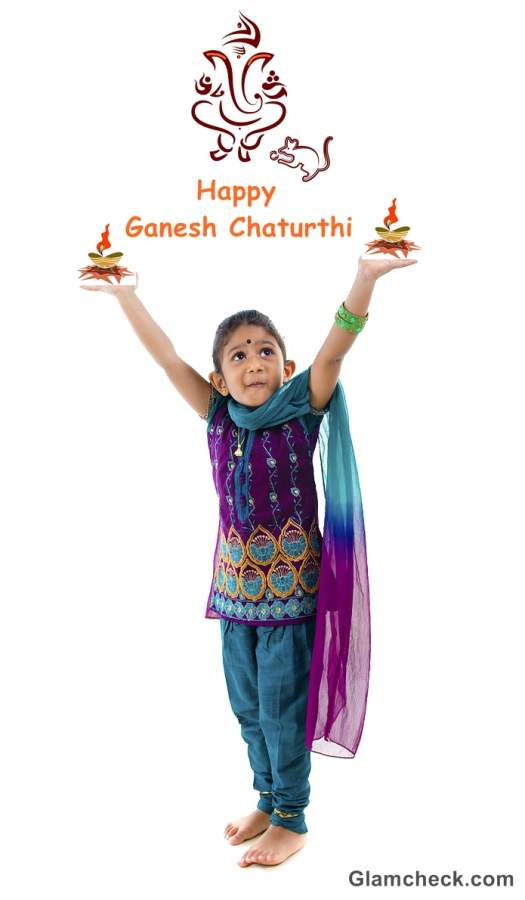 kids clothes tradtional indian festival ganesh chaturthi