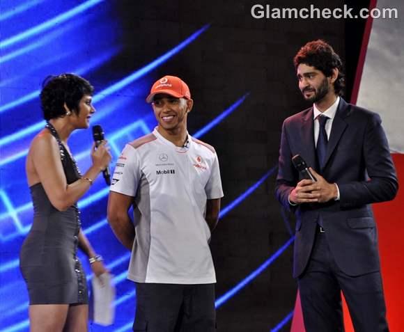 mandira gaurav Vodafone Speed Fest McLaren Mercedes driver Lewis Hamilton