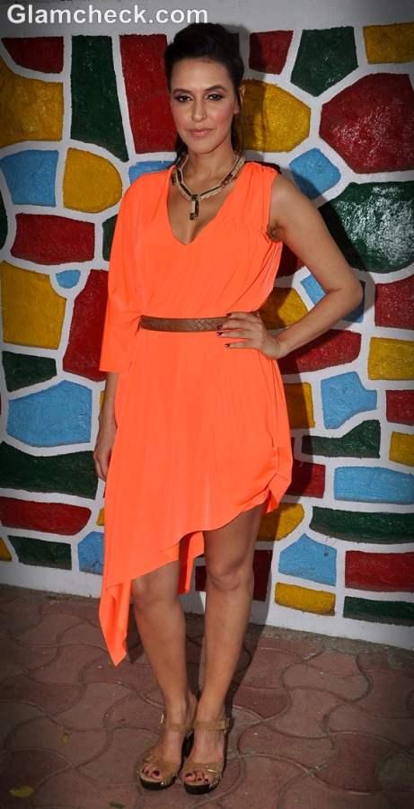 neha dhupia neon fashion trend