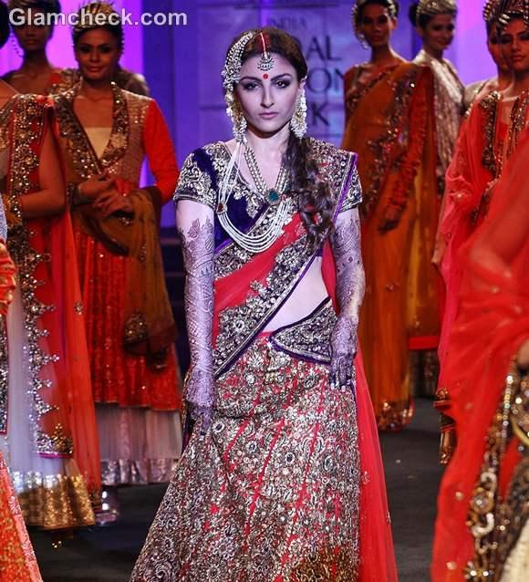 soha ali khan india bridal fashion week 2012